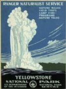 Vintage Travel Poster Yellowstone National Park USA